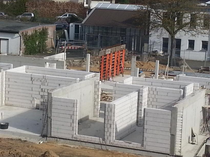 Wände werden errichtet