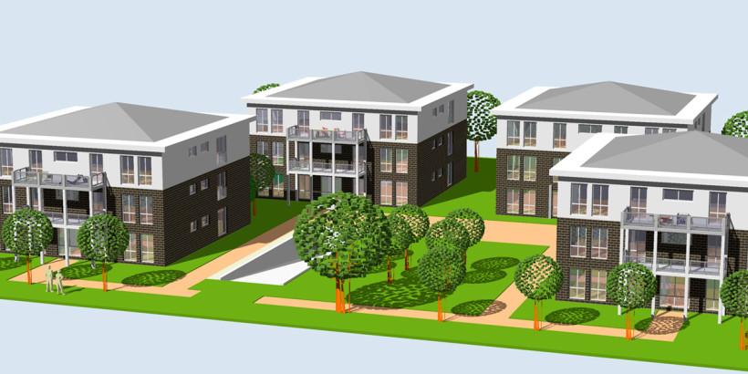 Neubau einer Wohnanlage an der Nassauerallee 124 in Kleve